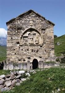 фасад христианского храма Тхаба-Ерды.