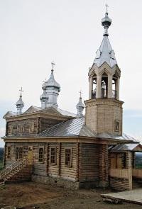 Новая деревянная церковь в Чердыни построена на месте старинной, снесенной в ХХ веке.
