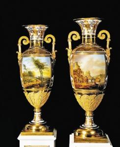 Дворцовые вазы,  времен царствования Николая I.