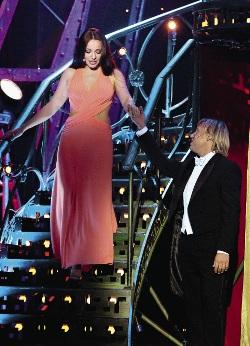 С Екатериной Гусевой на съемках программы«Господин Мюзикл».