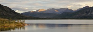 Лабынкырские мотивы. Южная часть озера на закате.