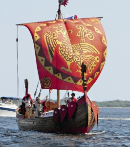 три богатыря на лодке