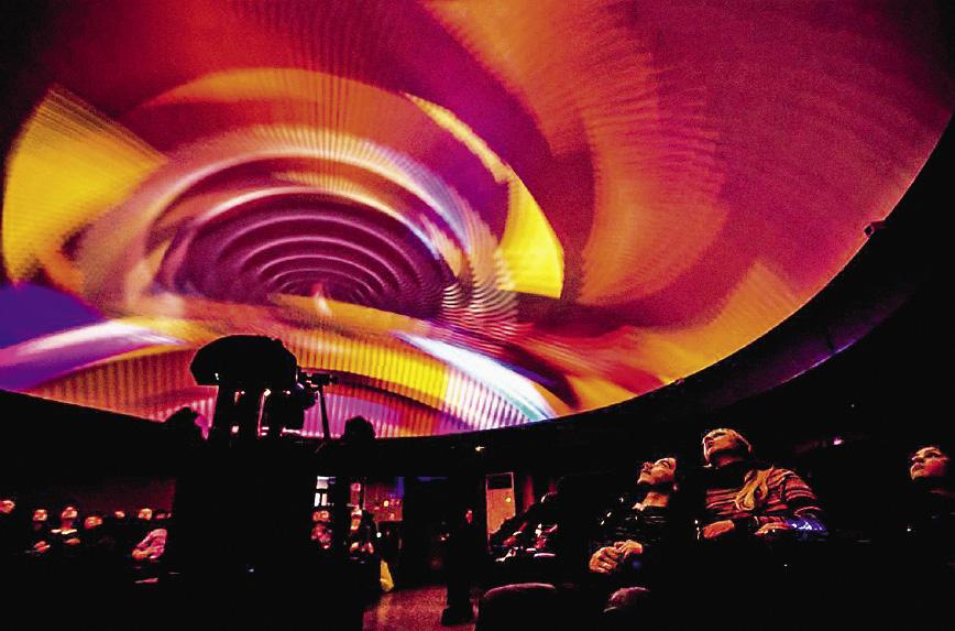 Лазерное шоу в городском планетарии.