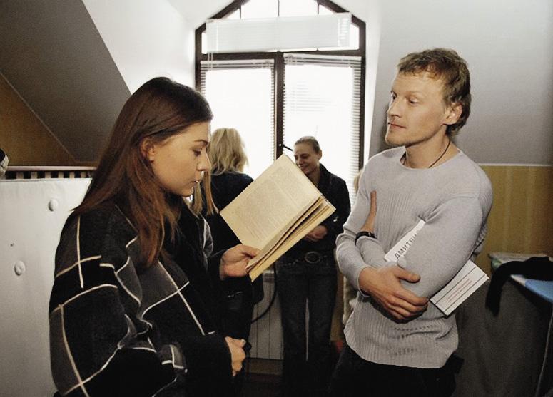 С Алексеем Серебряковым на съемках фильма «Сказка о женщине и мужчине».