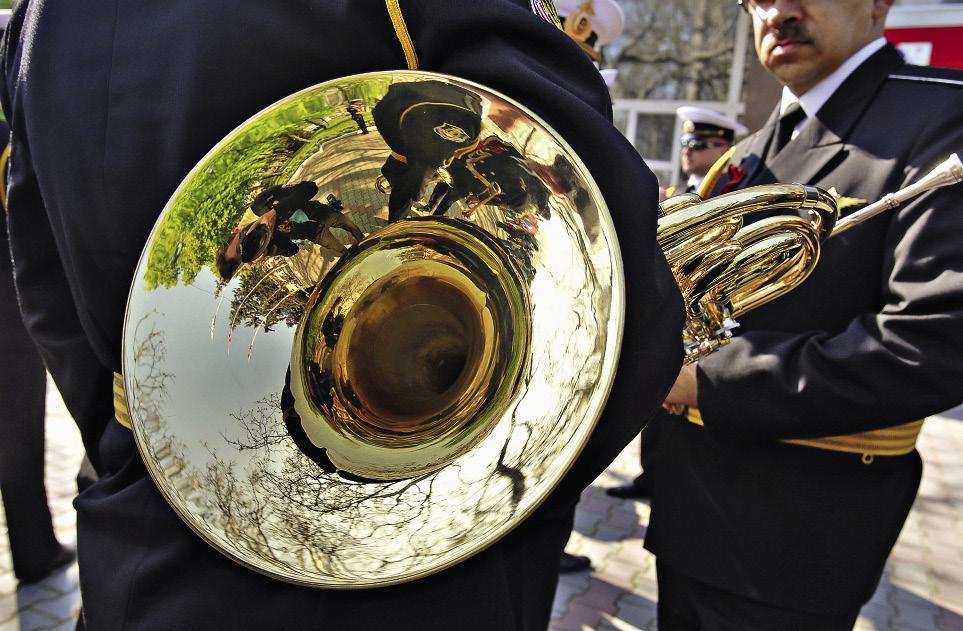 Медные трубы – непременный атрибут города-героя.Севастополь. Крым