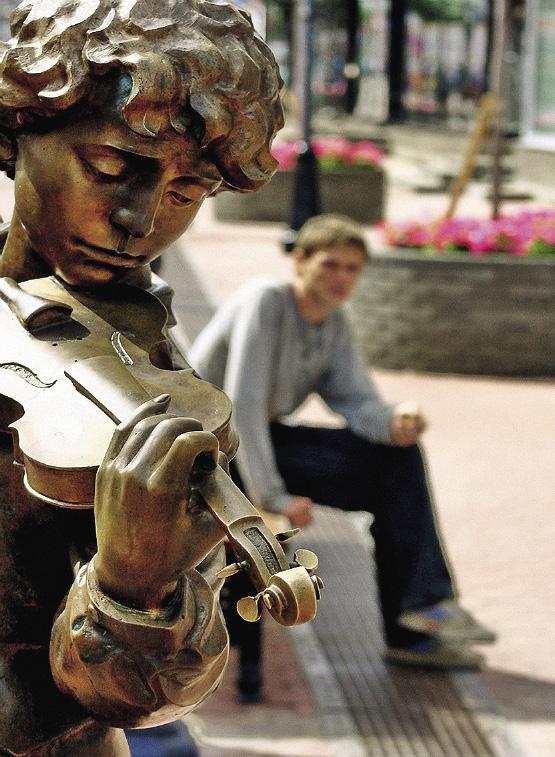 Настоящей изюминкой Покровки являются скульптуры.. Нижний Новгород. Нижегородская область