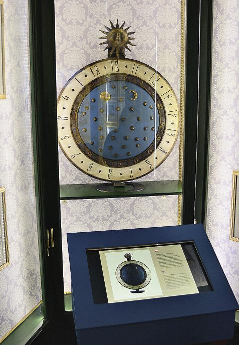 Модель кремлевских часов времен царя Алексея Михайловича. На циферблате – 17 делений!