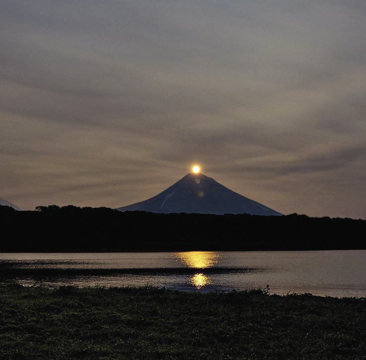 Камчатка, вулкан Ильинский. Ради такого восхода стоит ехать на край земли. Камчатка