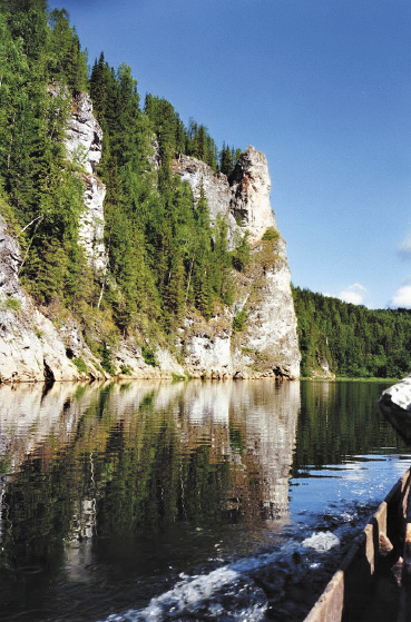 Река Унья выше кордона Чамейный. Пермский край
