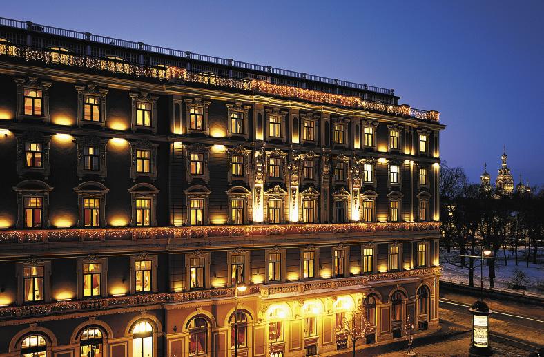 «Гранд Отель Европа» расположен в самом центре Санкт-Петербурга, на Невском проспекте, рядом с Русским музеем и Михайловским театром.. Санкт-Петербург