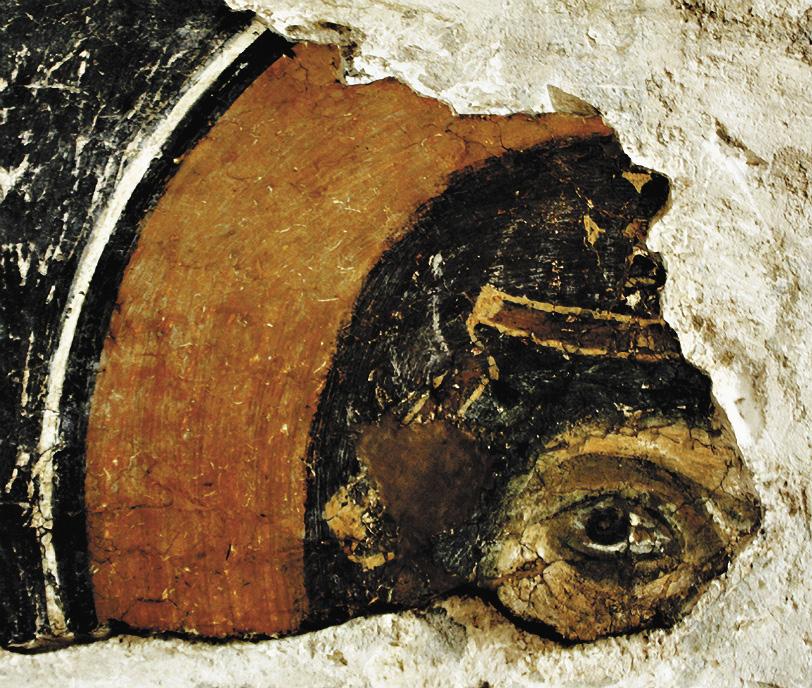 Древний византийский фрагмент, археологический музей, Севастополь. Республика Крым