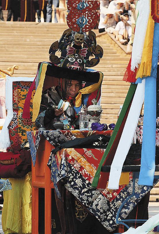 Калмыкия, Элиста. Буддийская церемония Цам.