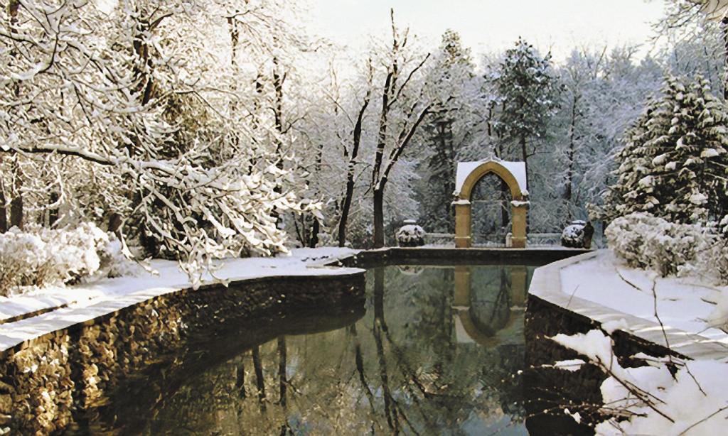 Парк в Кавминводах располагает к прогулкам даже зимой.