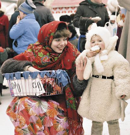 Рождественские народные гуляния в Вологде.