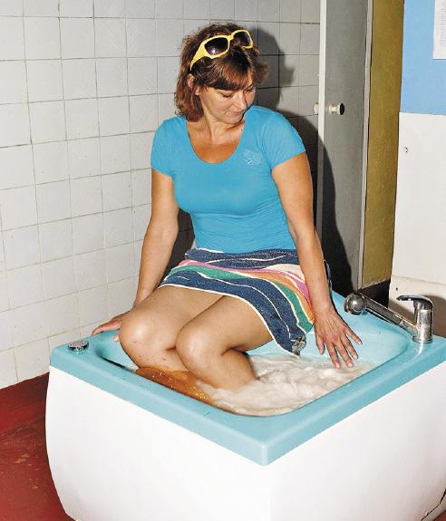 Вихревые ванны снимут усталость ног и успокоят нервную систему.