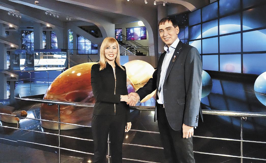 Интервью у космонавта взяла Наталья Андронова.