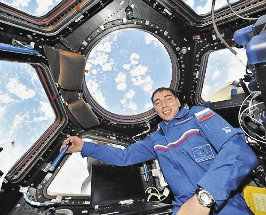 Сергей Волков: под куполом Международной космической станции.