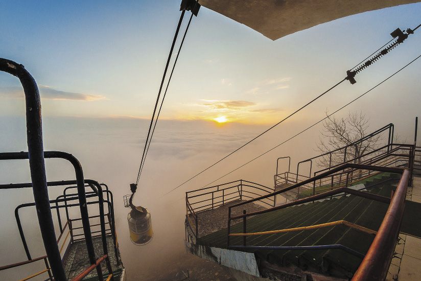 Закат на вершине горы Машук.