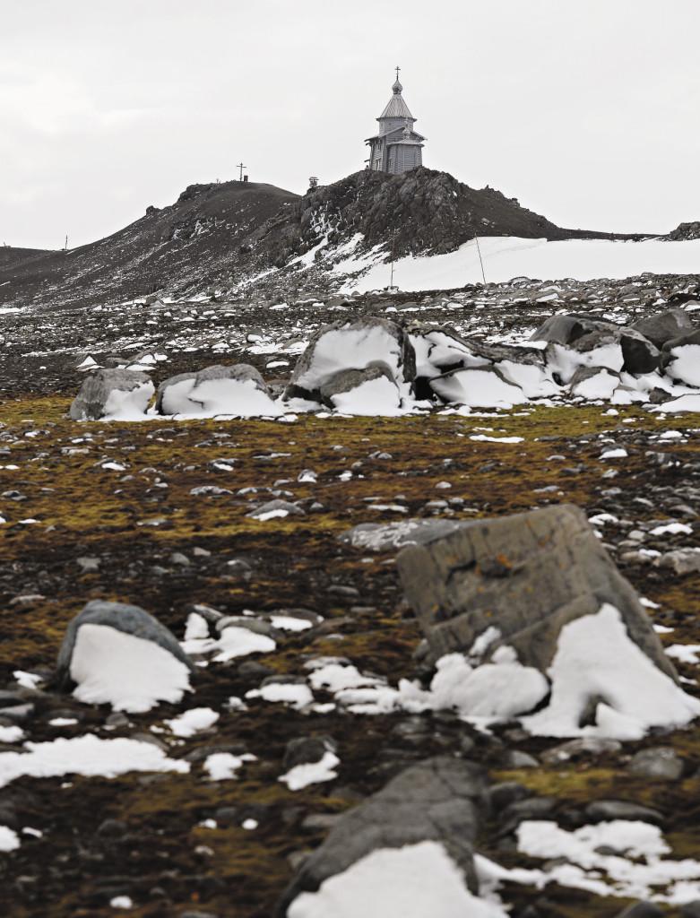 Полярники чтут русский православный храм в честь Пресвятой Троицы: островок родной земли на краю земли.