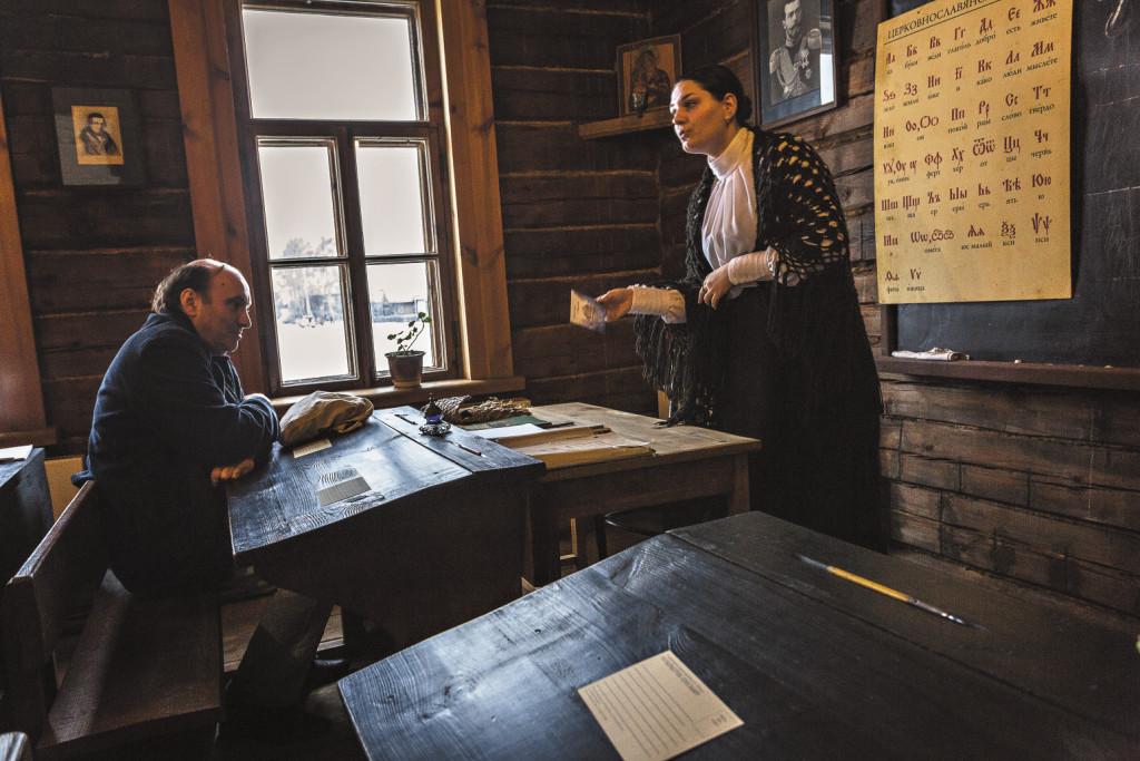 В этой простой школе в селе Константиново учился Сергей Есенин.