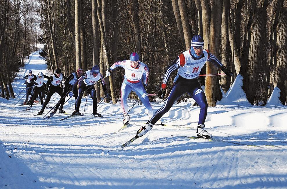 На большой территории «Ясной Поляны» устраивают даже лыжные гонки.