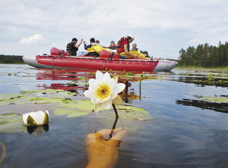 Река Шуя, впадающая в Онежское озеро, наиболее популярна для сплава на рафтах и лодках.