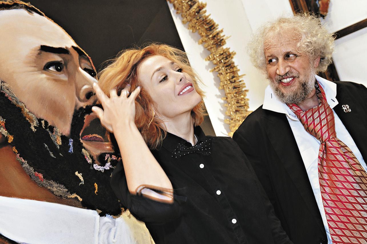 С художником Вадимом Гринбергом на открытии художественной ярмарки «Арт-Манеж».