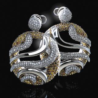 Мастера-ювелиры создают неповторимые образы родной земли из якутских алмазов и серебра.
