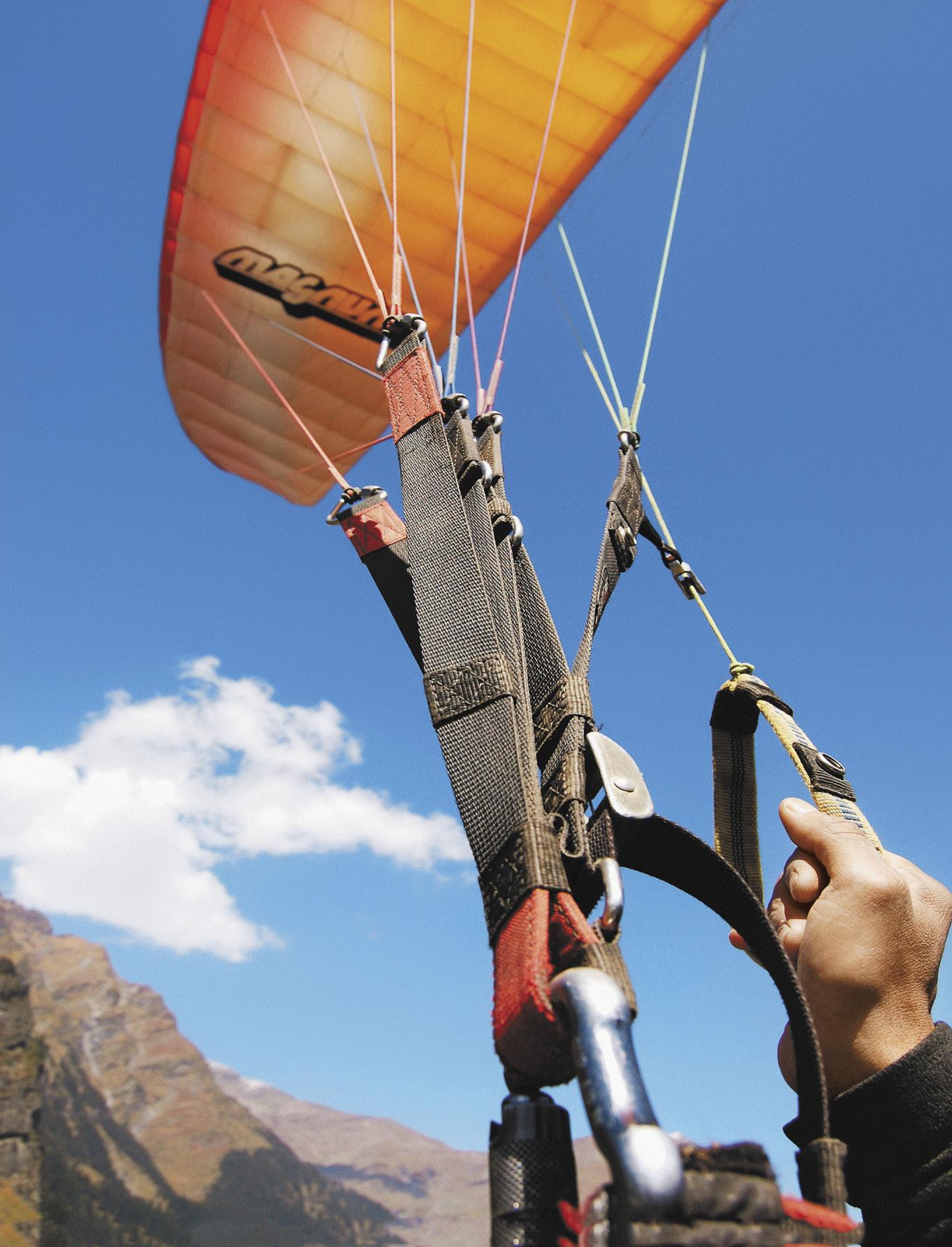 «Бобровая заимка» считается идеальным местом для полетов на параплане.