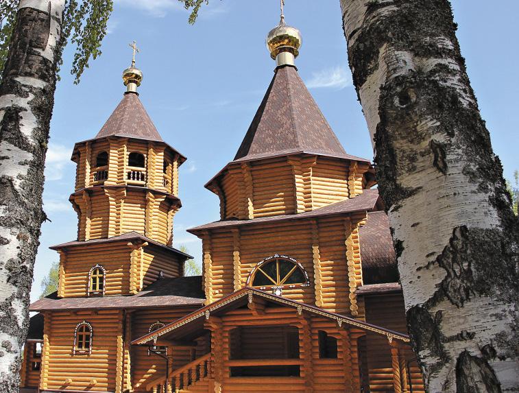 Рубленая церковь в честь преподобного Илариона Псковоезерского (Гдовского), расположенная в деревне Павлицево.