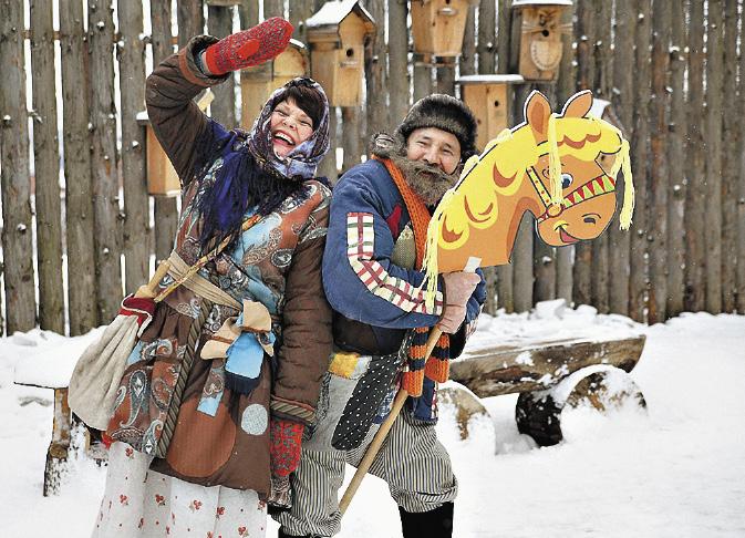Кострома – родина Снегурочки, но развлекать юных туристов здесь помогают и веселые Домовые.