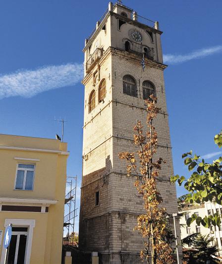 «Визитная карточка» города Козани – старинная часовая башня.