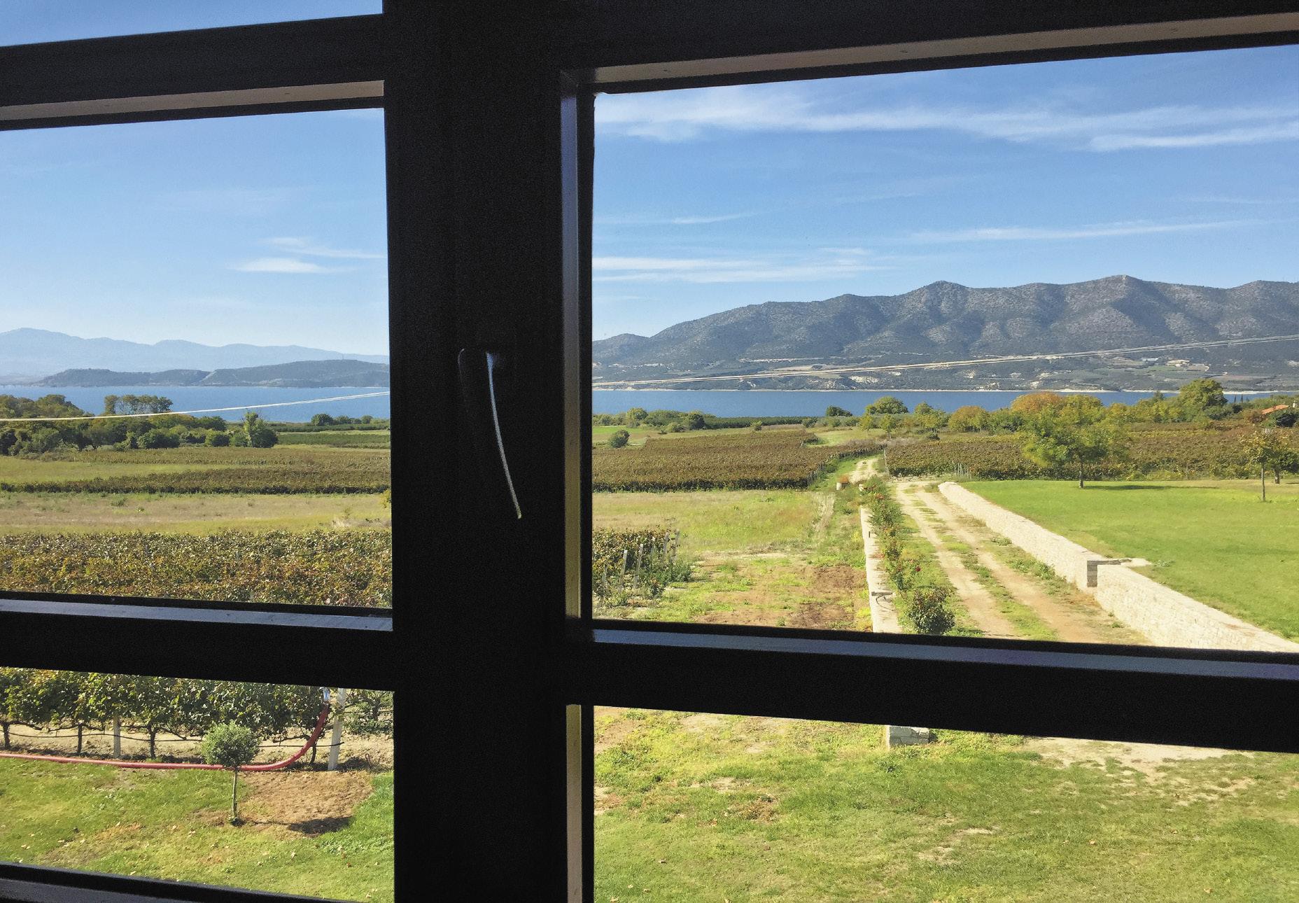 Из окон винных заводов Западной Македонии открываются пейзажи, чем-то напоминающие крымские.