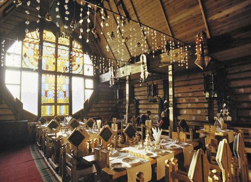 Интерьер ресторана «Игерман», неподалеку от Ижевска.