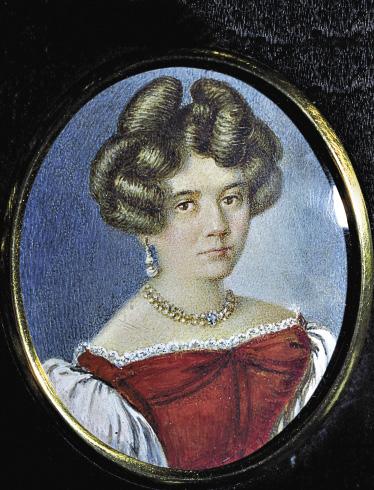 Мать композитора А. Чайковская. Миниатюра Л. Брамсона.