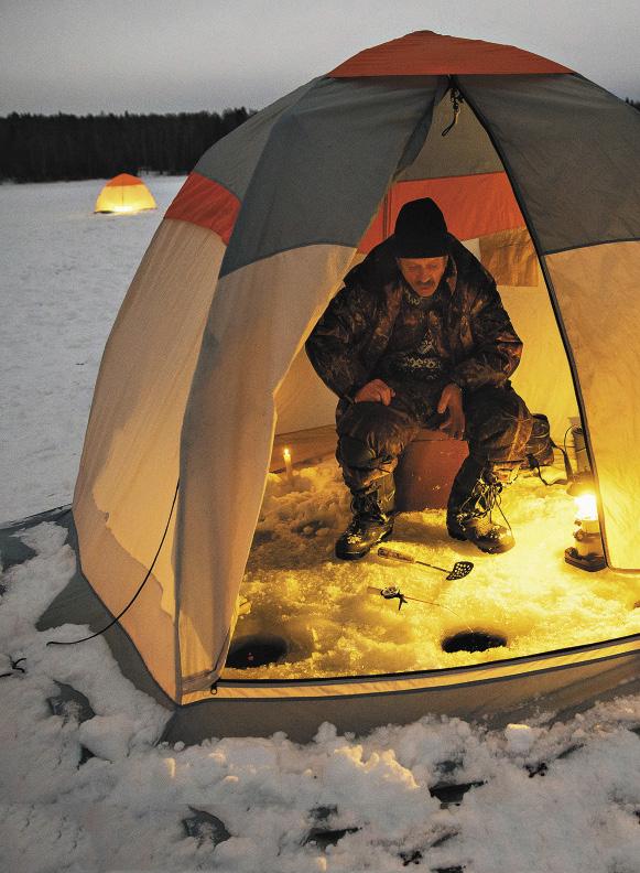 Зимняя рыбалка на Истринском водохранилище – скорее релаксация, чем активный отдых.