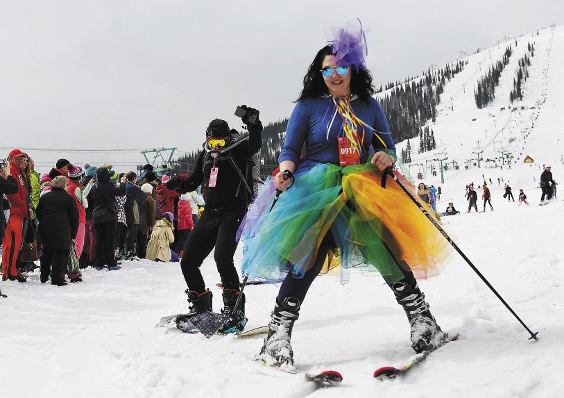 Фестиваль Grelka Fest в Шерегеше доказывает: кататься на лыжах весело даже в самом странном наряде!