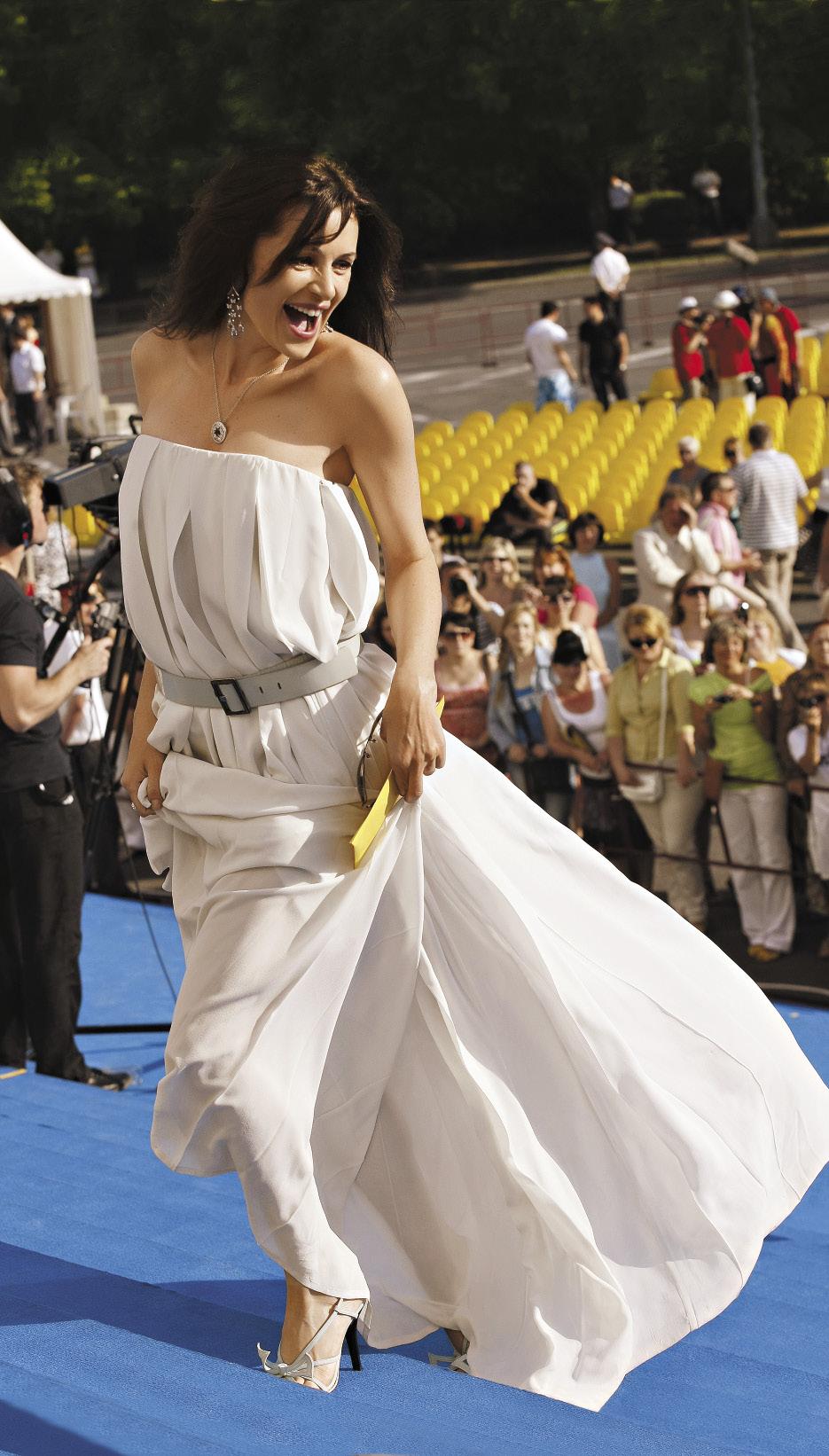 Перед началом церемонии закрытия XXIII фестиваля российского кино «Кинотавр».