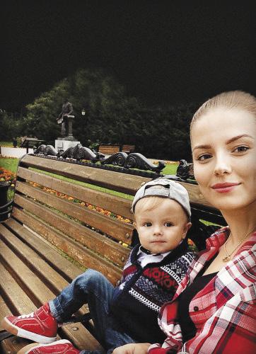 Юля с сыном Артемом.