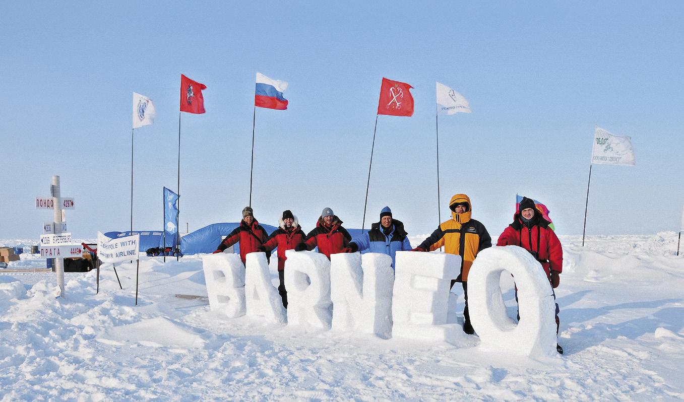 Сейчас путь на Северный полюс обычно начинается с дрейфующего лагеря Барнео.