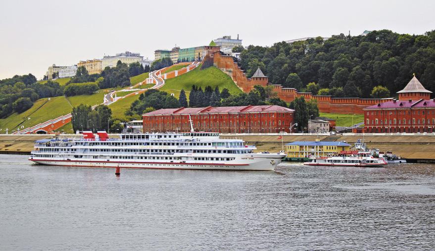 Кремль,  г. Нижний Новгород, вид с реки Волги.