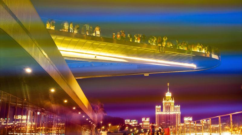 Вечерняя Москва без штатива